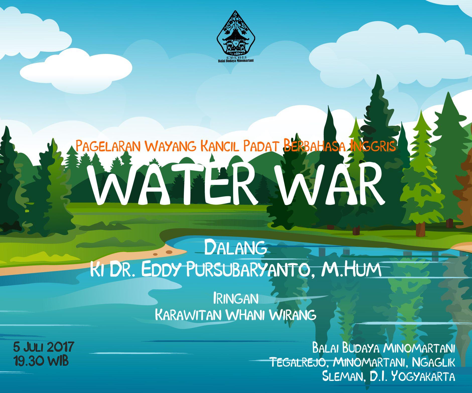 water war | Wayang Kancil | WATER WAR | Balai Budaya Minomartani