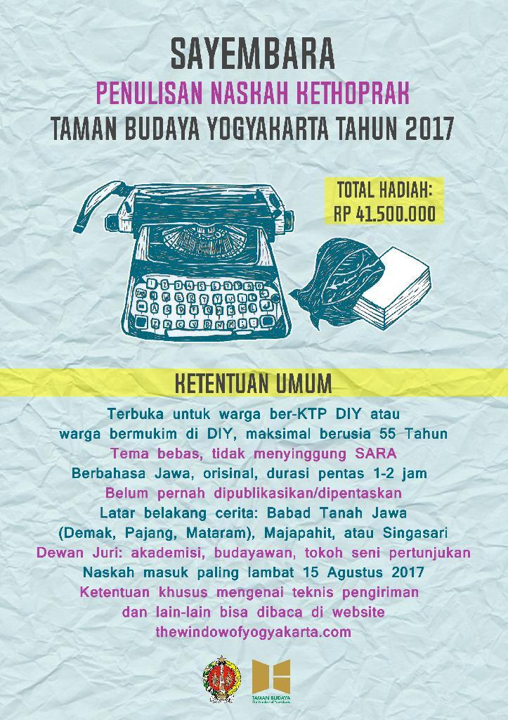 sayembara penulisan naskah kethoprak 2017 986jpg | Sayembara Naskah Kethoprak TBY 2017