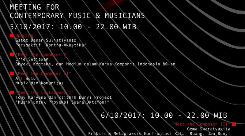 POSTER OCTOBER MEETING 2017 | Musik | October Meeting 2017 | Art Music Today