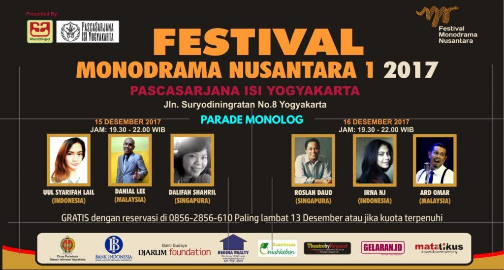 Parade Monolog FMN | Teater | Parade Monolog | Festival Monodrama Nusantara