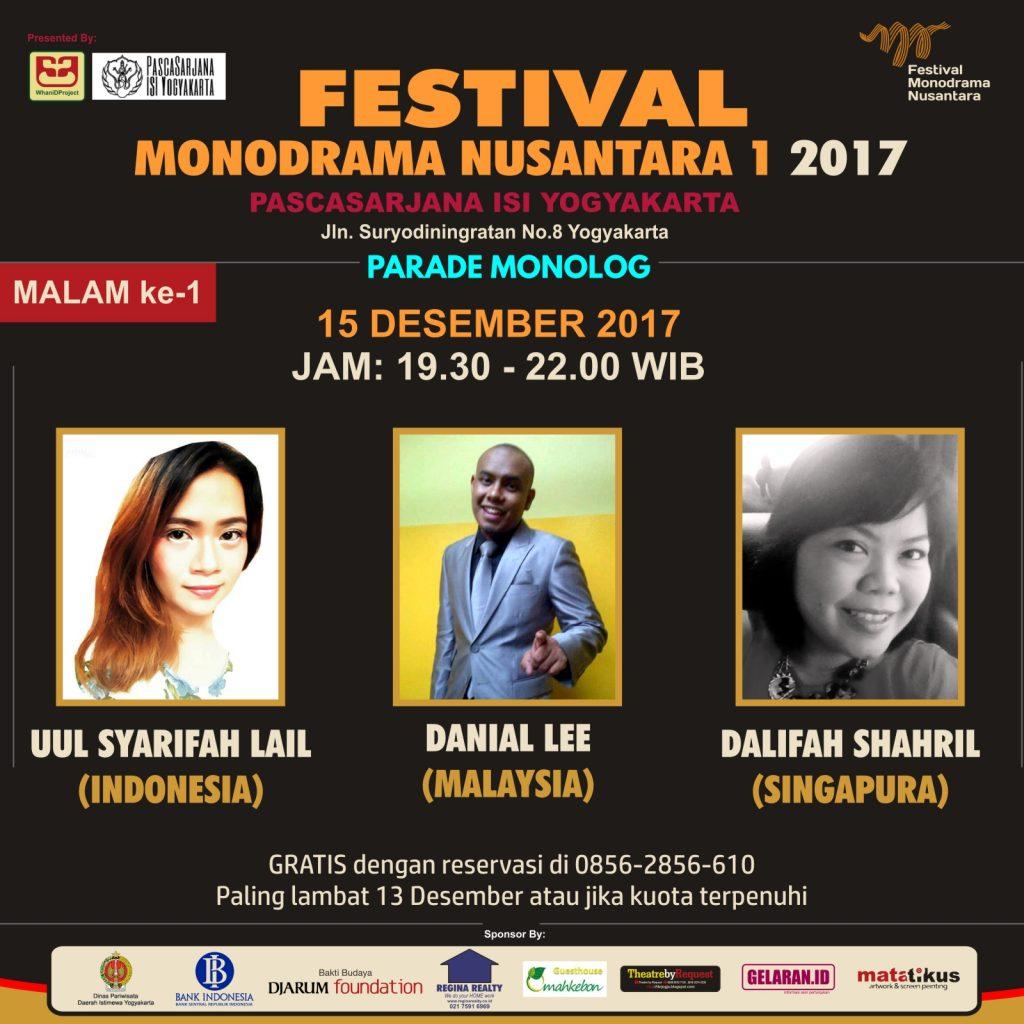 Parade Monolog H 1 | Teater | Parade Monolog | Festival Monodrama Nusantara