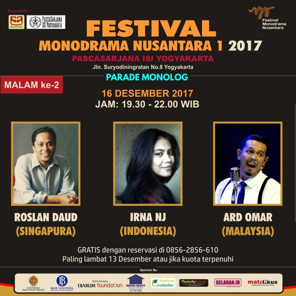 Parade Monolog H 2 | Teater | Parade Monolog | Festival Monodrama Nusantara