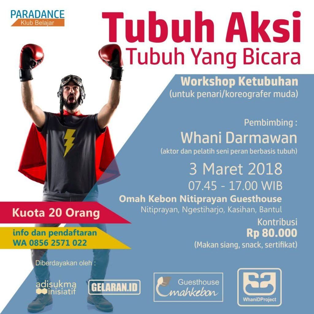 Poster Workshop 1 | Dibuka Pendaftaran : Workshop Ketubuhan Paradance