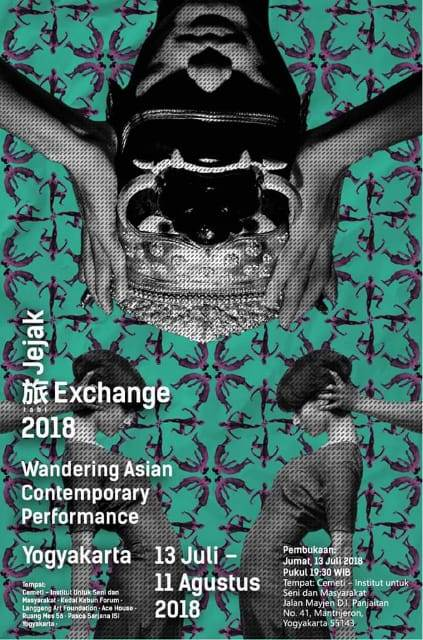 "Poster Jejak Tabi | ""Jejak-旅 Tabi Exchange: Wandering Asian Contemporary Performance"" Yogyakarta 2018"