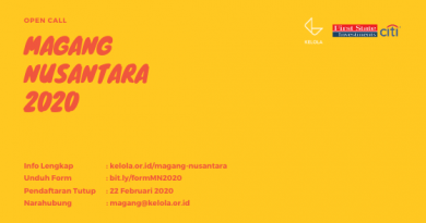 Open Call Magang Nusantara 2020