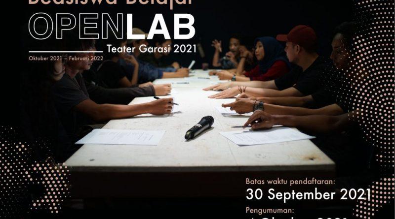 Open Lab Open Call pendek 1024x1024 1 | Undangan Terbuka Beasiswa Belajar OpenLab Teater Garasi